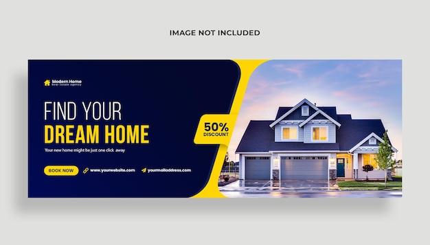 Venda de casa capa do facebook ou modelo de banner da web