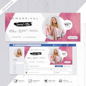 Venda de moda com estilo facebook social media