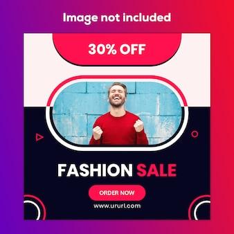 Venda de moda design de banner de mídia social de marketing