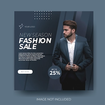 Venda de moda masculina nas redes sociais com estilo
