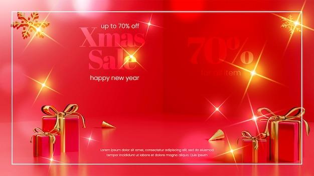 Venda de natal 3d design