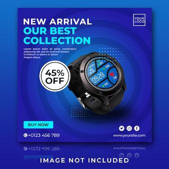 Venda de relógios de pulso para modelo de postagem no instagram