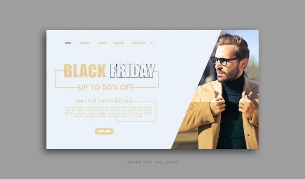 Venda especial de moda da black friday capa do facebook template premium psd