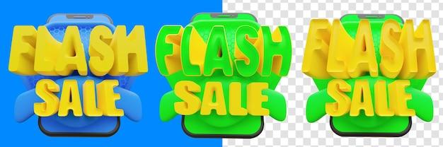Venda flash 3d isolada