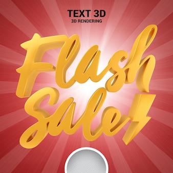 Venda flash banne de renderização em 3d