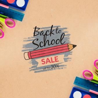 Venda para oferta especial de material escolar