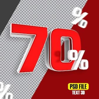 Venda vermelha com 70% de desconto promocional