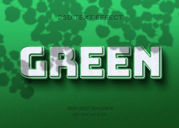 Verde forte em negrito no efeito de texto de parede