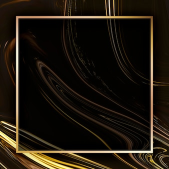 Vetor de modelo de anúncios sociais com moldura quadrada dourada