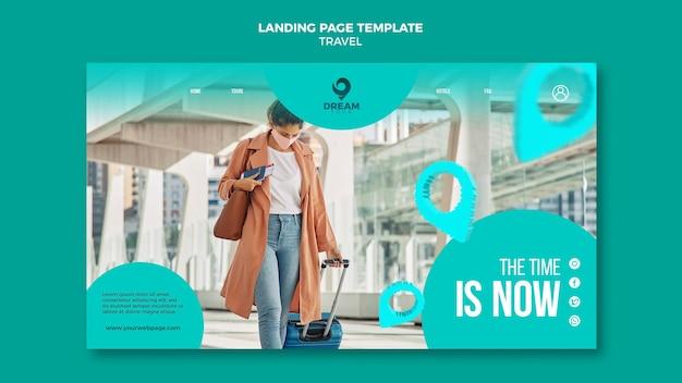Viajar com a página de destino da máscara