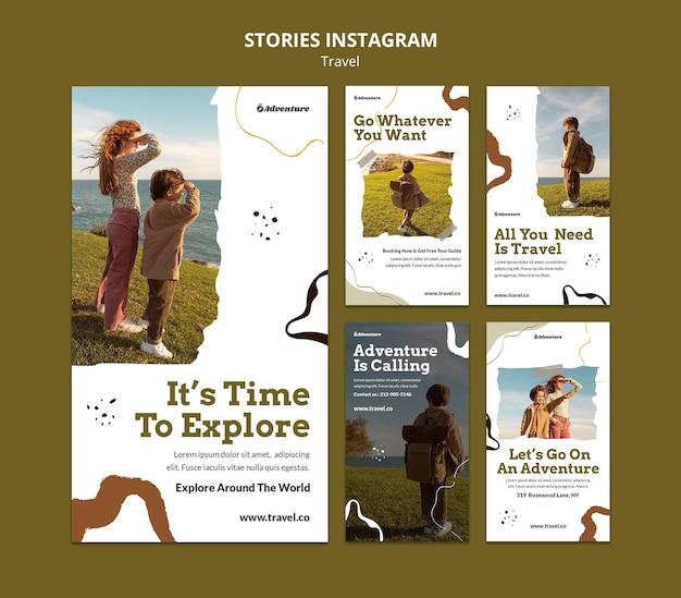 Viaje pelo mundo, histórias do instagram