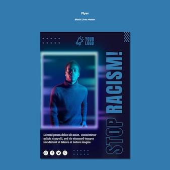 Vidas negras importa panfleto com foto