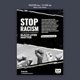 Vidas negras minimalistas importam panfleto