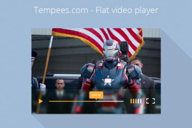 Vídeo design plano jogador simples