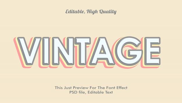 Vintage, efeito de fonte na moda em estilo moderno 3d