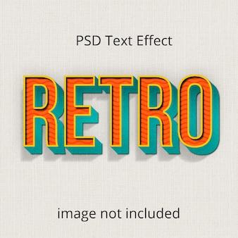 Vintage retro photoshop efeito de texto layer style