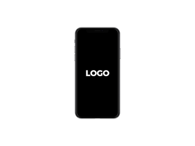 Visão frontal do iphone x mockup