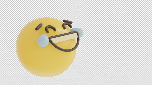 Visão inclinada rindo emoji png