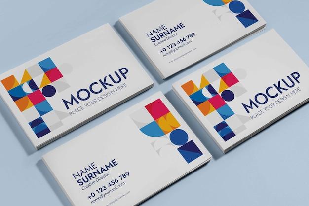 Visitando maquete de design de cartão de visita