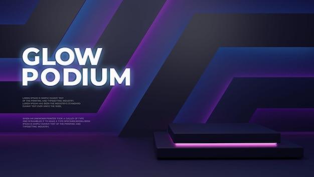 Visor de produto moderno pódio escuro e brilhante
