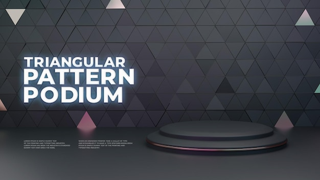 Visor de produto triangular 3d podium