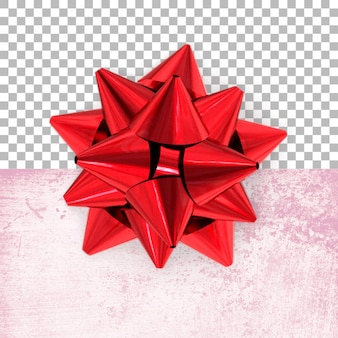 Vista completa de decorações de aniversário vermelhas isoladas