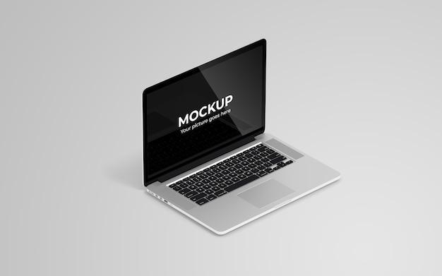 Vista de alto ângulo de maquete de laptop
