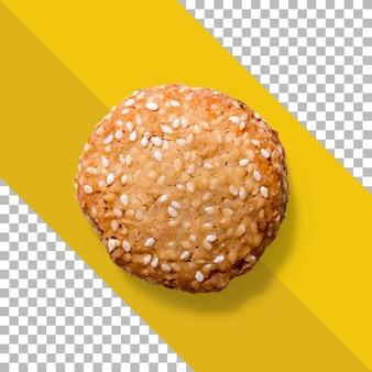 Vista de recarga biscoito crocante isolado