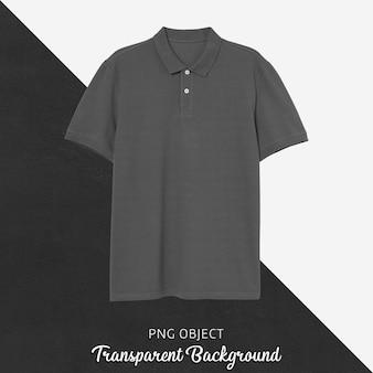 Vista frontal da maquete da camiseta polo cinza