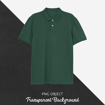 Vista frontal da maquete da camiseta polo verde