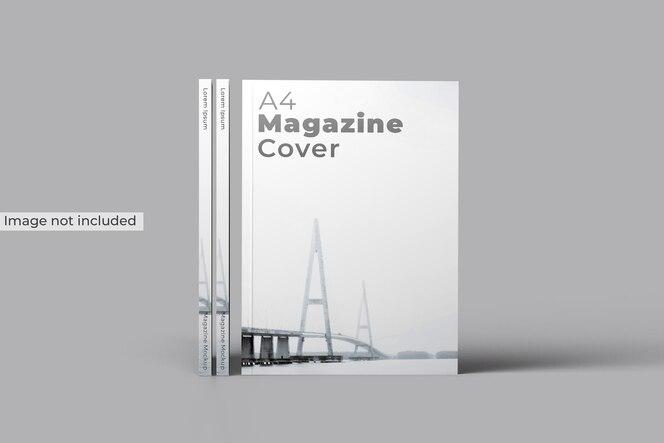 vista frontal da maquete da capa da revista