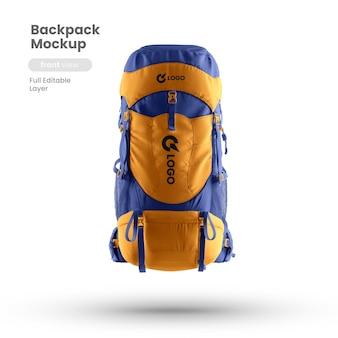 Vista frontal da maquete da mochila