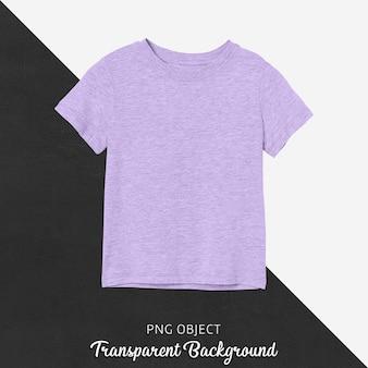 Vista frontal da maquete de camiseta infantil roxa básica