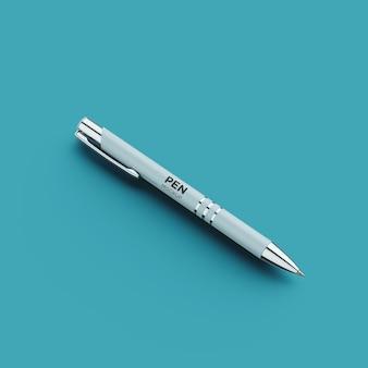 Vista frontal da maquete de caneta de luxo isolada
