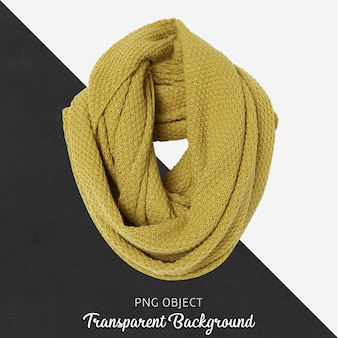 Vista frontal da maquete de lenço amarelo