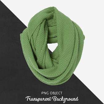 Vista frontal da maquete de lenço verde