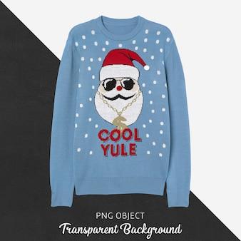 Vista frontal da maquete de suéter de natal