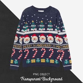 Vista frontal da maquete de suéter unissex de natal