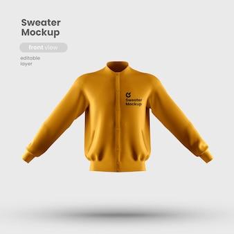 Vista frontal da maquete de suéter