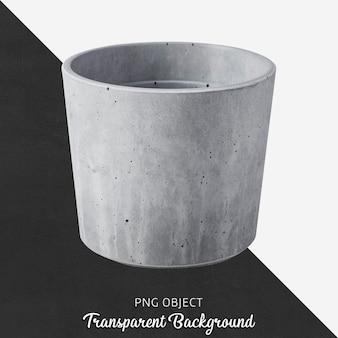 Vista frontal da maquete de vaso de pedra cinza