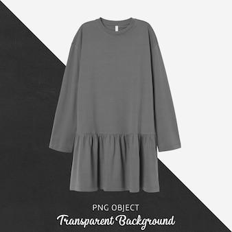Vista frontal da maquete de vestido de mulher cinza