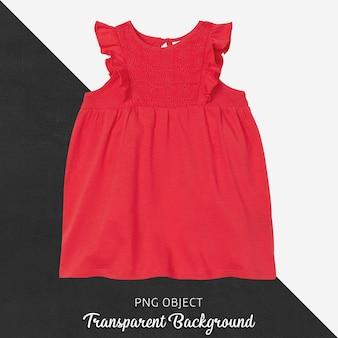 Vista frontal da maquete de vestido infantil