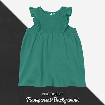 Vista frontal da maquete de vestido verde