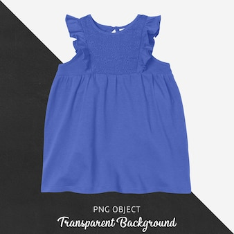 Vista frontal da maquete do vestido azul