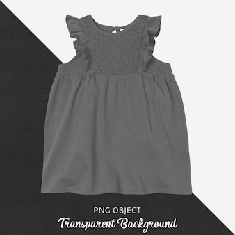 Vista frontal da maquete do vestido cinza escuro
