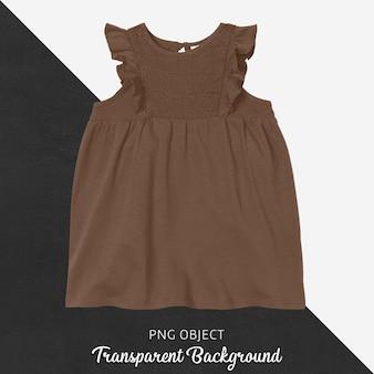 Vista frontal da maquete do vestido marrom
