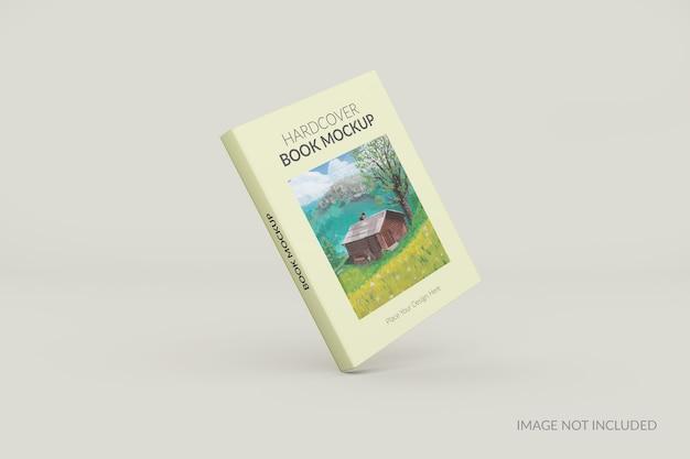 Vista frontal da maquete em pé do livro de capa dura