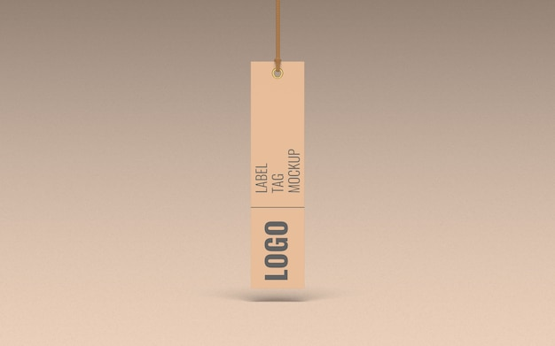 Vista frontal de maquete de etiqueta de etiqueta de roupas