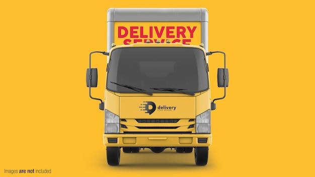Vista frontal do modelo de caminhão de entrega