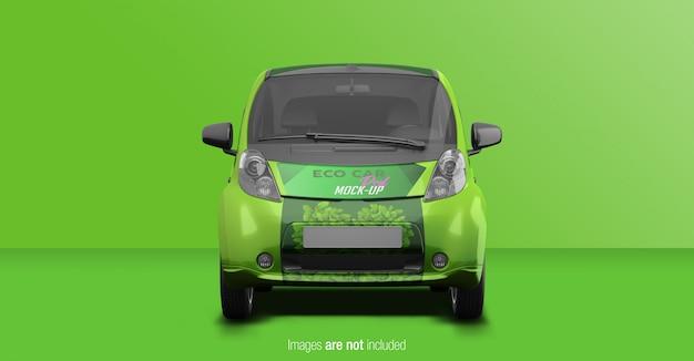 Vista frontal eco car psd mockup